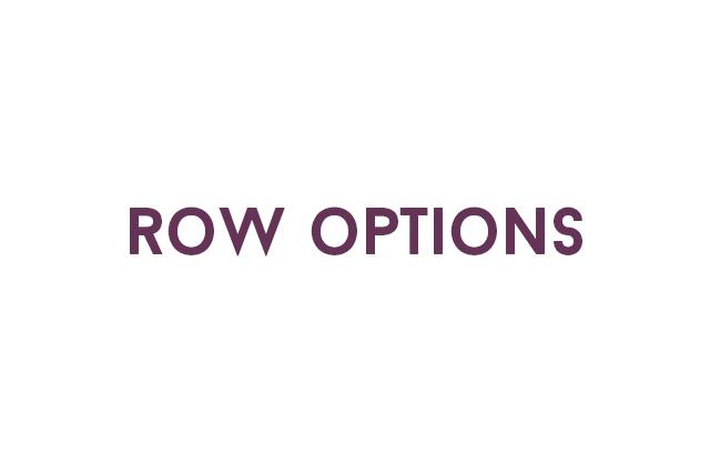 Raccorder supervisor script row options